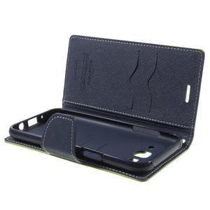 Diary stylové peněženkové pouzdro na Samsung Galaxy J5 - zelené - 5