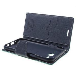 Diary stylové peněženkové pouzdro na Samsung Galaxy J5 - azurové - 5