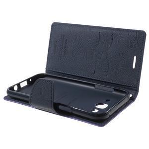 Diary stylové peněženkové pouzdro na Samsung Galaxy J5 - fialové - 5