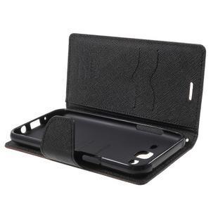 Diary stylové peněženkové pouzdro na Samsung Galaxy J5 - hnědé - 5