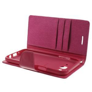 Luxury textilní/pu kožené pouzdro na Samsung Galaxy J5 - rose - 5