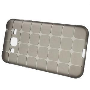 Square matný gelový obal na Samsung Galaxy J5 - šedý - 5