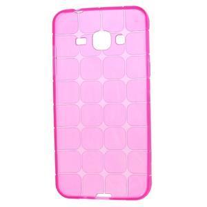 Square matný gelový obal na Samsung Galaxy J5 - rose - 5