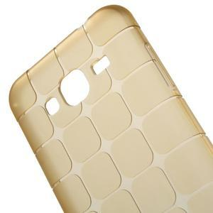 Square matný gelový obal na Samsung Galaxy J5 - champagne - 5