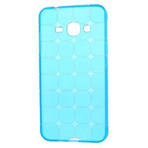 Square matný gelový obal na Samsung Galaxy J5 - modrý - 5