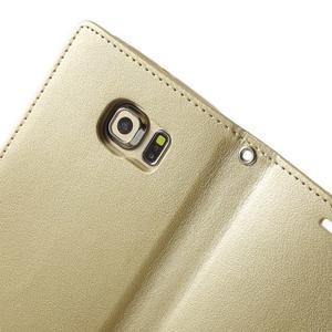 Wallet PU kožené pouzdro na Samsung Galaxy S6 Edge G925 - champagne - 5