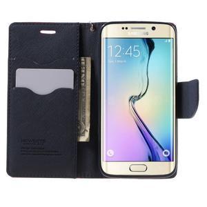 Diary PU kožené pouzdro na Samsung Galaxy S6 Edge - červené - 5