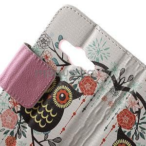 Vzorové peněženkové pouzdro na Samsung Galaxy Xcover 3 - sova - 5