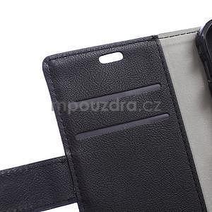 Peněženkové pu kožené pouzdro na Samsung Galaxy Xcover 3 - černé - 5