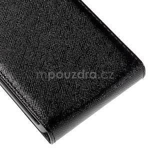 Flipové koženkové pouzdro na Samsung Galaxy Xcover 3 - černé - 5
