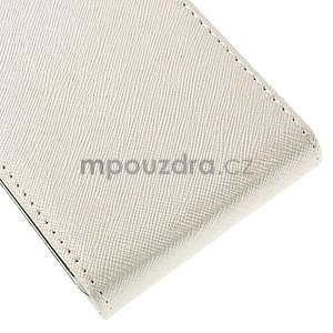 Flipové koženkové pouzdro na Samsung Galaxy Xcover 3 - bílé - 5