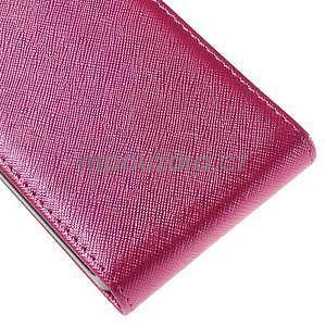 Flipové koženkové pouzdro na Samsung Galaxy Xcover 3 - růžové - 5
