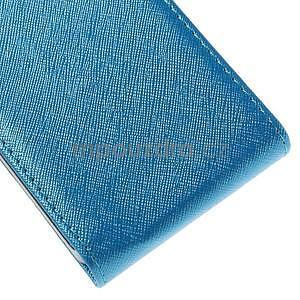 Flipové koženkové pouzdro na Samsung Galaxy Xcover 3 - modré - 5