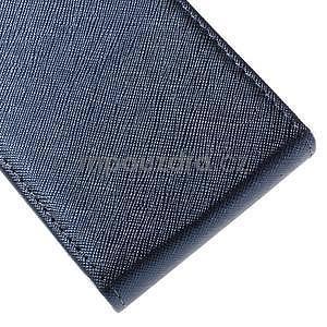 Flipové koženkové pouzdro na Samsung Galaxy Xcover 3 - tmavěmodré - 5