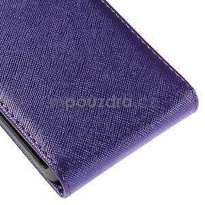 Flipové koženkové pouzdro na Samsung Galaxy Xcover 3 - fialové - 5