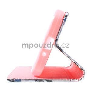 Stylové peněženkové pouzdro pro Samsung Galaxy Xcover 3 - fialové květy - 5