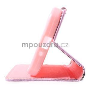 Stylové peněženkové pouzdro pro Samsung Galaxy Xcover 3 - kvetoucí větvička - 5