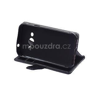 Černé koženkové pouzdro Samsung Galaxy Xcover 3 - 5