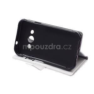 Bílé koženkové pouzdro Samsung Galaxy Xcover 3 - 5