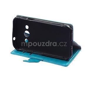 Modré koženkové pouzdro Samsung Galaxy Xcover 3 - 5