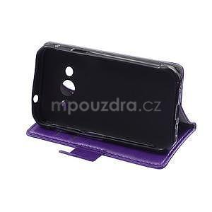 Fialové koženkové pouzdro Samsung Galaxy Xcover 3 - 5