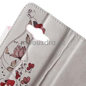Vzorové peněženkové pouzdro na Samsung Galaxy Xcover 3 - červené květy - 5