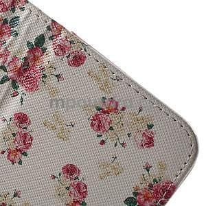 Vzorové peněženkové pouzdro na Samsung Galaxy Xcover 3 - květiny - 5