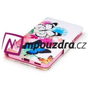 Emotive PU kožené pouzdro na mobil Nokia 6 - květinoví motýlci - 5