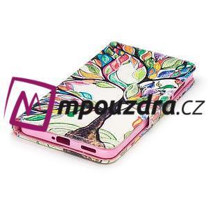 Emotive PU kožené pouzdro na mobil Nokia 6 - malovaný strom - 5