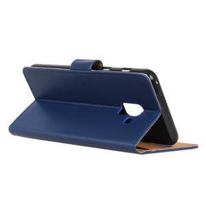 Wallet PU kožené pouzdro na Samsung Galaxy A6+ (2018) - modré - 5