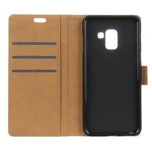 Wallet PU kožené pouzdro na Samsung Galaxy A6+ (2018) - fialové - 5