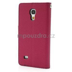 PU kožené peněženkové pouzdro na Samsung Galaxy S4 mini - rose - 5