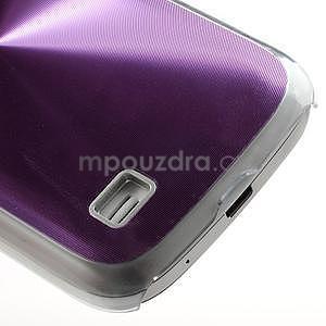 Metalický obal na Samsung Galaxy S4 mini - fialový - 5