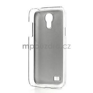 Metalický obal na Samsung Galaxy S4 mini - stříbrný - 5