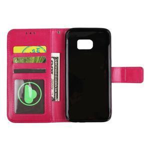 Mandala PU kožené pouzdro na Samsung Galaxy S7 Edge - rose - 5