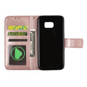 Mandala PU kožené pouzdro na Samsung Galaxy S7 Edge - růžovozlaté - 5