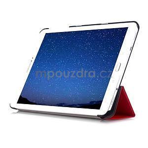 Trifold polohovatelné pouzdro na Samsung Galaxy Tab S2 9.7 - červené - 5