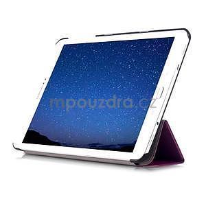 Trifold polohovatelné pouzdro na Samsung Galaxy Tab S2 9.7 - fialové - 5