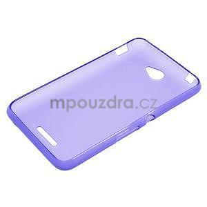 Gelový jednobarevný obal pro Sony Xperia E4 - fialový - 5