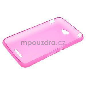 Gelový jednobarevný obal pro Sony Xperia E4 - růžový - 5