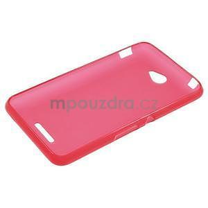 Gelový jednobarevný obal pro Sony Xperia E4 - červený - 5