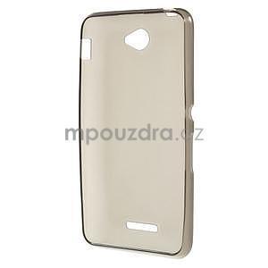 Gelový jednobarevný obal pro Sony Xperia E4 - šedý - 5