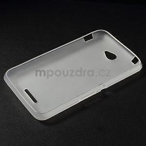 Gelový jednobarevný obal pro Sony Xperia E4 - transparentní - 5