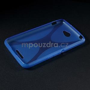 Gelový x-line obal na Sony Xperia E4 - modrý - 5