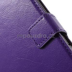 PU kožené peněženkové pouzdro na mobil Sony Xperia E4 - fialové - 5