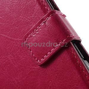 PU kožené peněženkové pouzdro na mobil Sony Xperia E4 - rose - 5