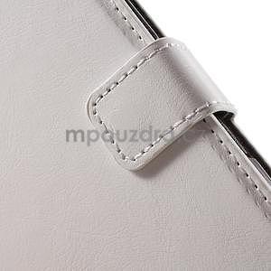 PU kožené peněženkové pouzdro na mobil Sony Xperia E4 - bílé - 5