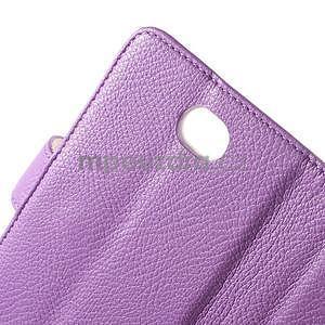 Koženkové pouzdro pro Sony Xperia E4 - fialové - 5