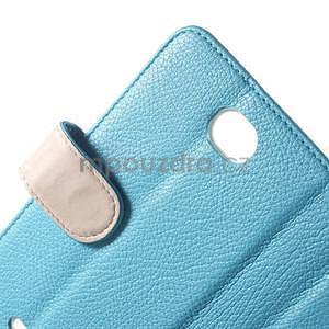 Koženkové pouzdro pro Sony Xperia E4 - světle modré - 5