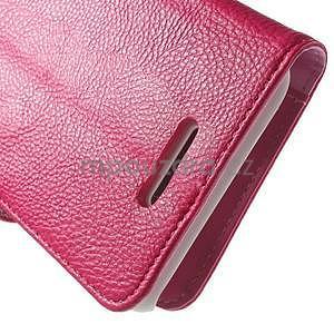 Koženkové pouzdro pro Sony Xperia E4 - rose - 5